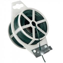 Rouleau de fil plastique armé vert - 50 m