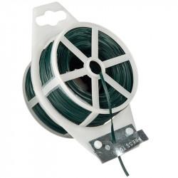 Rollo de alambre de plástico armado, verde - 100 m