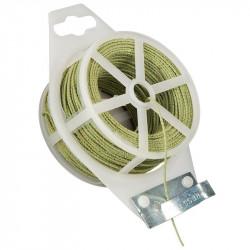 Rouleau de fil métallique plastifié rugueux vert - 50 m