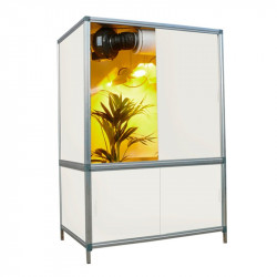 Placard de culture en bois MDF Bonanza 1m² Blanc- 176x118x78 cm