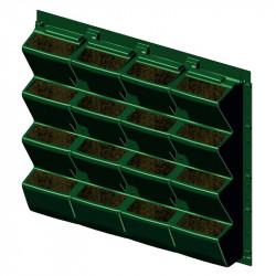 La pared de las plantas para el interior o el exterior de 90 x 81 cm - ModuloGreen