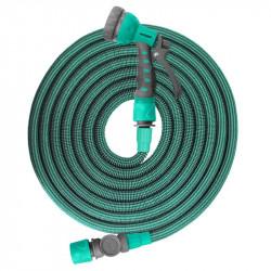 Tuyau Jardiflex30 extensible et rétractable de 10 à 30m - Turquoise - Jardibric