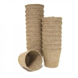 20 pots ronds en tourbe 6x6cm - VG Garden