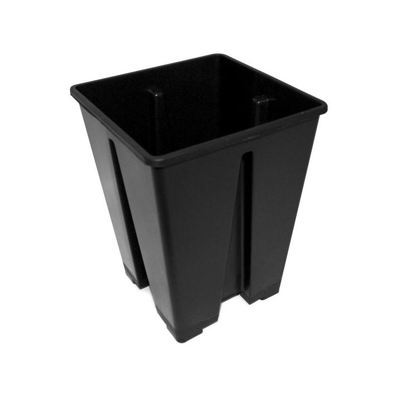 Bote cuadrado negro de 15x15x20 3,6 l - Nuova pasquini e bini spa