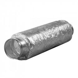 Silencioso metal blando de 125mm de 50cm con brida hecho de metal rígido