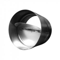 Válvula de retención de 160 mm de metal para conductos