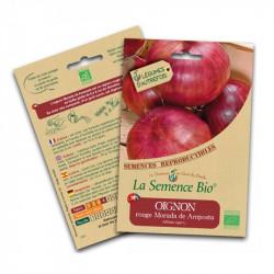 Semillas orgánicas de color rojo - Cebolla Morada de Amposta 1.5 g de Semillas Orgánicas