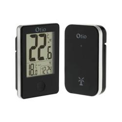Thermomètre intérieur/extérieur avec capteur sans fil - Noir - Otio