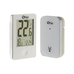 Thermomètre intérieur/extérieur avec capteur sans fil - Blanc - Otio