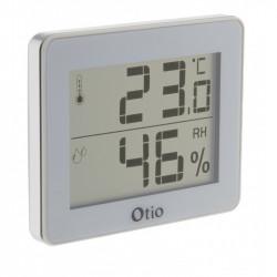 Termómetro e Higrómetro con pantalla LCD - Blanco - Otio