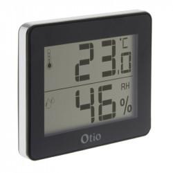 Thermomètre et Hygromètre avec écran LCD - Noir - Otio