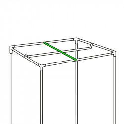 Barra de colgar para lámpara - 119cm - Negro Plata