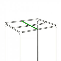 Barre de suspension pour lampe - 80cm - Black Silver
