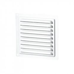Grille d'aération carrée 125mm - Acier Blanc - Ecran anti insecte - Winflex Ventilation