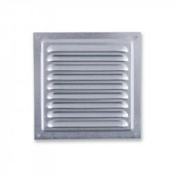 Grille d'aération carrée 125mm - Acier Galvanisé - Ecran anti insecte - Winflex Ventilation
