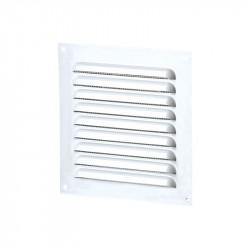 Grille d'aération carrée 100mm - Aluminium Blanc - Anti insecte - Winflex Ventilation