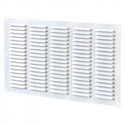 Grille d'aération 5 rangées 500x250mm - Aluminium Blanc - Anti insecte - Winflex Ventilation