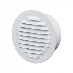 Grille d'aération ronde Ø150mm - Acier Blanc - Anti insecte - Winflex Ventilation
