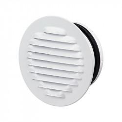 Grille d'aération avec caoutchouc Ø150mm - Acier Blanc - Anti insecte - Winflex Ventilation