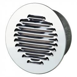 Grille d'aération ronde Ø150mm - Aluminium poli - Anti insecte - Winflex Ventilation