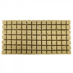 Plaque de 98 cubes de laine de roche - 36 x 36 x 40cm - Grodan