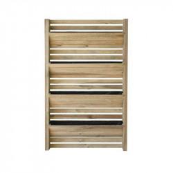 La pared vegetal de madera Edén con geotextil - 90 x 180 cm-huerta, verticales, de madera ,valla vegetal