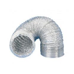 Gaine aluminium pour extracteur et aérateur d'air Ø 125 mm x 3 m ventilation conduit