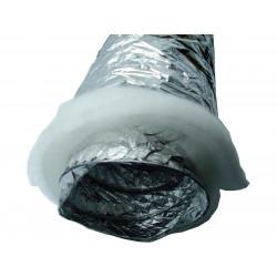 Gaine insonorisée ouate pour extracteur d'air Ø 100 mm x 3 m winflex ventilation