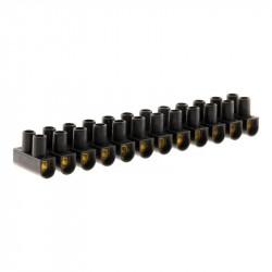 Barrettes de connexion 12 plots - 10 mm² - Noir - Zenitech