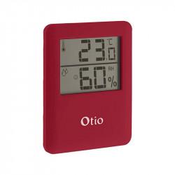 Thermomètre / Hygromètre 6.5x8cm - Rouge - Otio