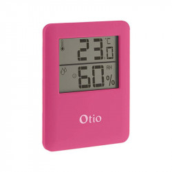 Termómetro / Higrómetro 6.5x8cm - Rosa - Otio