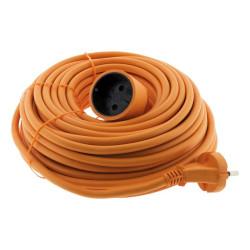 Cable de extensión para jardín - 10m - H05VV-F 2x1.5mm2 - Zenitech
