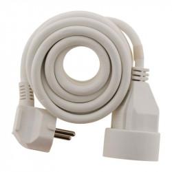 Rallonge électrique - 3m - H05VV-F 3G1.5mm² - Blanc - Zenitech
