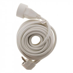 Cable de extensión - 10m H05VV-F 3G1.5mm2 - Blanco - Zenitech