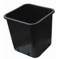 Pot carré noir 28.5x28.5x28.4 14L - Nuova Pasquini