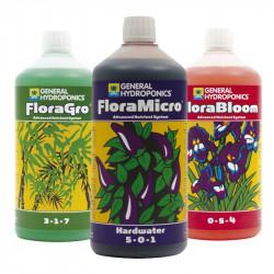 Pack de fertilizantes de la Flora de la Serie 1L - Agua Dura