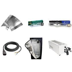 KIT Silver Box mylar 120 x 120 x 200 cm éclairage 400w HPS-MH