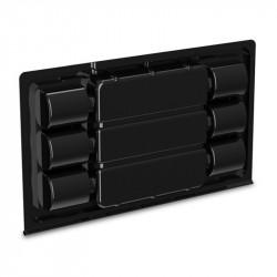 Boite en plastique noire : 6 boutures - 25 x 14.8 x 2.4 cm