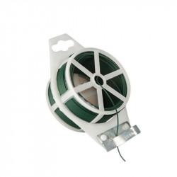 Rouleau de fil de fer plastifié vert pour maintenir les tuteurs - Nature