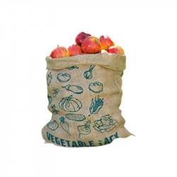 Lot de 2 sacs en toile de jute imprimé 49.5x45.7cm - Nature