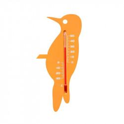 Thermométre extérieur Oiseau en plastique 15x7.5 cm - Nature