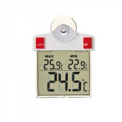 Thermométre d'extérieur Digital avec ventouse 17x11cm - Nature