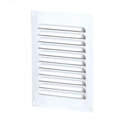 Grille d'aération rectangle 100x200mm - Aluminium Blanc - Anti insecte - Winflex Ventilation