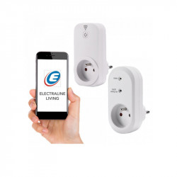 Wi-fi Smart Kit : Prise connectée WIFI + Fiche radio - Electraline