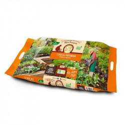 Tierra para macetas de Jardín de vegetales Padre Francisco 50L - Oro Marrón