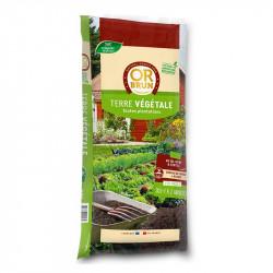 La tierra vegetal fertilizada 30L 25Kg - Marrón de Oro de tierra para macetas