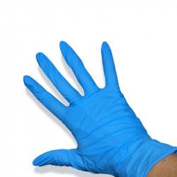 Boîte de 100 gants en nitrile Bleu -Taille S