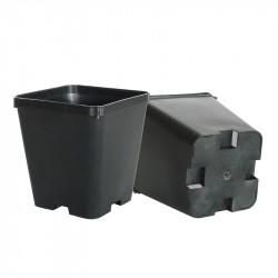 Bote cuadrado negro - 10x10x11 cm