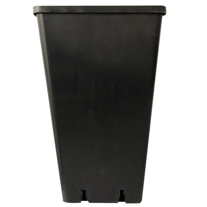 Bote cuadrado negro 10,5x10,5x22 1.8 l - Nuova pasquini e bini spa