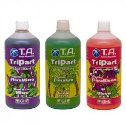 Pack engrais - Flora TriPart - Eau dure - 1L - Terra Aquatica GHE